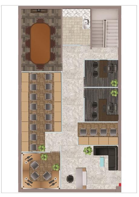 Render 1200 Sq feet layout